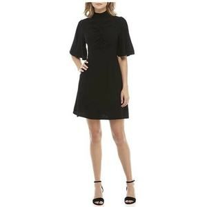 NWT Free People Black 2 Be My Baby Mock Neck Dress